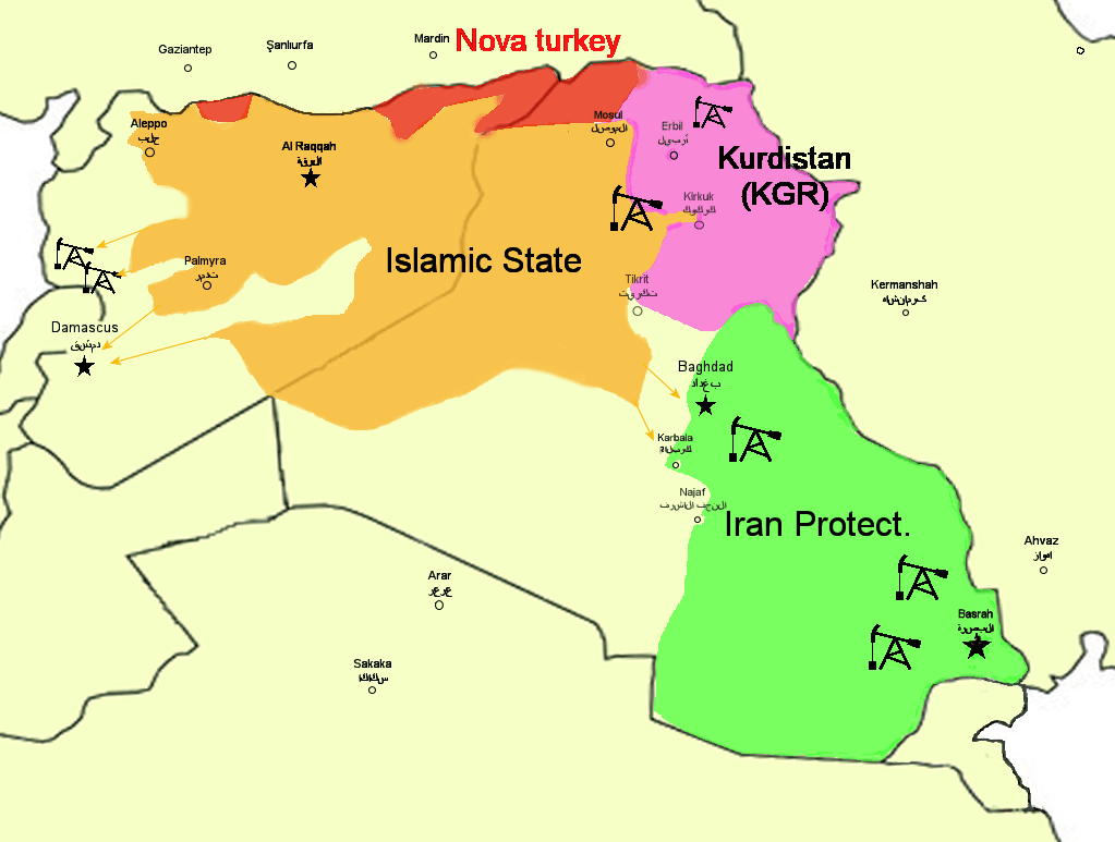 Baghdad Middle East Map Redrawing the map of the middle East. | GEFIRA