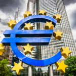 Euro sign at European Central Bank headquarters