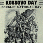 "Source: WWI poster - ""Kossovo Day"""
