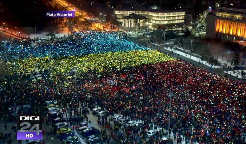 tricolor-protest-piata-victoriei