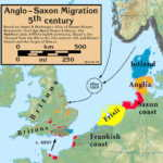Anglo-Saxon Migration in the 5th century By my work [CC BY-SA 3.0 (http://creativecommons.org/licenses/by-sa/3.0)], via Wikimedia Commons