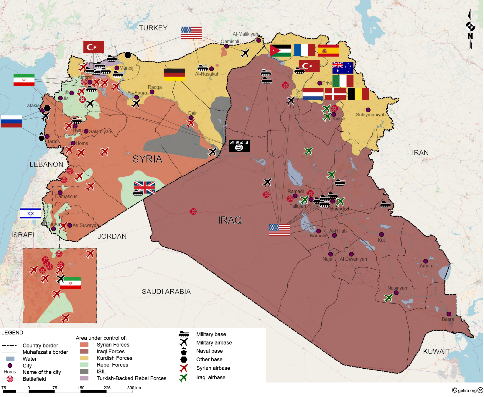 World war iii in syria and iraq map gefira world war iii in syria and iraq map source gefira gumiabroncs Gallery